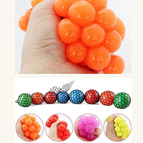 [Jokes Toys Trick Gags Funny Kids Fake Games 1Pc 5CM Funny toys Antistress Face Reliever Grape Ball Autism Mood Squeeze Relief Healthy Toys Funny Geek Gadget for Halloween Jokes By] (Cats Musical Halloween Costumes)