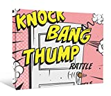 JP London DDCNV2275 Ready to Hang Feature Wall Art 2'' Thick Heavyweight Gallery Wrap Canvas Huff Puff Three Little Pigs Door Knock Comic At 60'' Wide by 40'' High