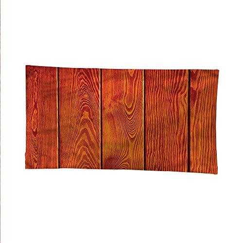 Orangeoutdoor tapestryceiling tapestryWood Timber Floor Orange 60W x 51L Inch