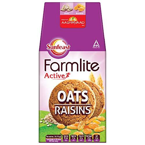 Sunfeast Farmlite Digestive Oats with Raisins Biscuits, 150g