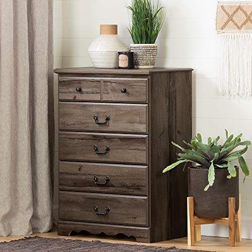 (South Shore 11919 Prairie 5-Drawer Chest, Fall)