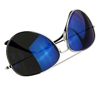 LUFA Lunettes de soleil réfléchissant Objectif Métal + résine UV400 SilverFreen & SilverLens1# iC1ZgIm