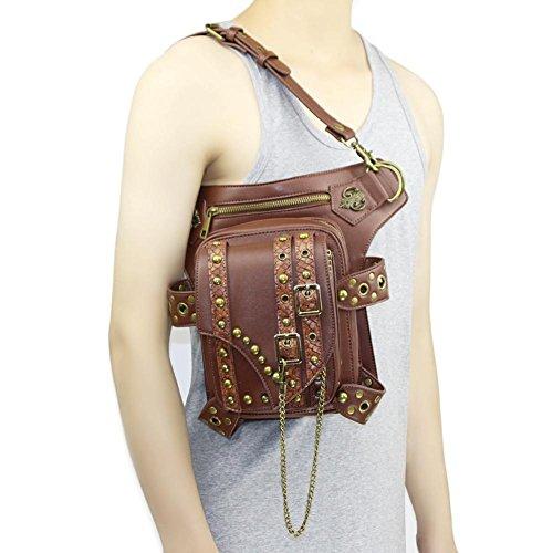 sbzll Punk Retro Motorrad Kette Tasche Damen Schulter Messenger Bag Stecker Taschen