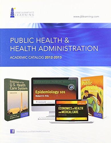 2012-2013 HEALTH ADMIN & PUBLIC HEALTH CATALOG
