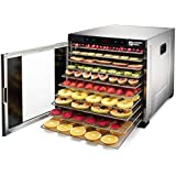 Magic Mill Commercial pro Xl Stainless Steel 10 Tray Food and Jerky Dehydrator with digital Timer For Beef Jerky, Dried Fruits, Vegetables & Nuts Includes Bundle Of Accessorizes