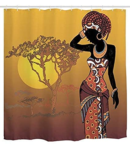Image Unavailable Not Available For Color Ihome888 African Woman Shower Curtain