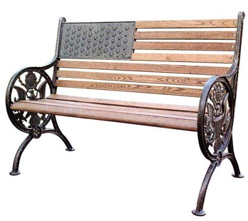 Amazon Com Oakland Living 6011ab Proud American Bench