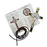 """3"""" Colored Enamel St. Benedict Crucifix with Round"""