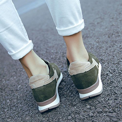 Erhöhte Frauen flache Schuhe der Damen-Schuhe fallen in Frauensportschuhe, Freizeitschuhe laufen green