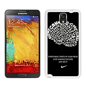Lovely And Unique Designed Cover Case For Samsung Galaxy Note 3 N900A N900V N900P N900T With Nike 5 White Phone Case