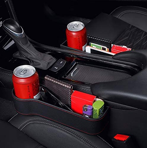 Asiento de coche Grieta Caja de almacenamiento Taza Portavasos Organizador Auto Gap Pocket Stowing Tidying Para 1 par