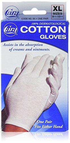Dermatological Cotton Gloves - CARA Moisturizing Eczema Cotton Gloves, Extra Large, 1 Pair