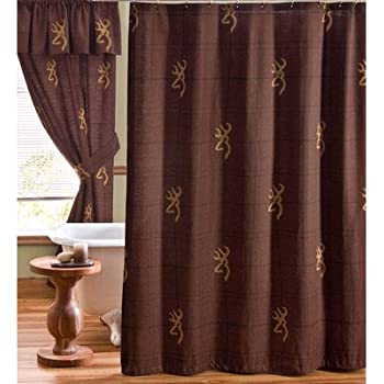 Good This Item Buckmark Cotton Shower Curtain