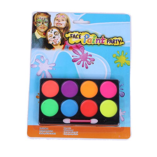 BinaryABC Halloween Makeup Face Paint Kit,8 Colors,Halloween Party Supplies