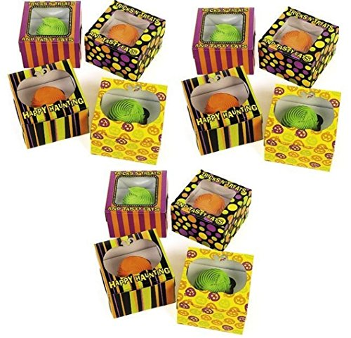 Popular Halloween Costumes Google (Cardboard Halloween Cupcake Or Cookies Treat Boxes (12-Pack - 4 Styles x 3 Pcs Each Style) Perfect for Party Favors, Giveaways, Gifts)