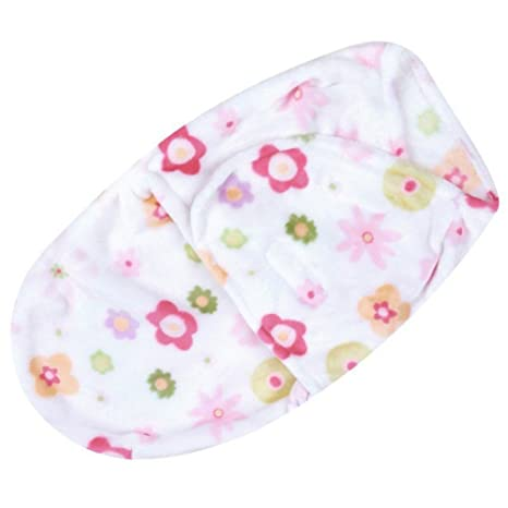 Forro polar manta de bebé wickeld esquina niña Saco de dormir recién nacido 0 – 3