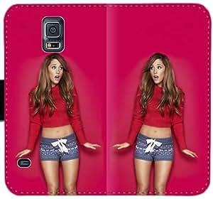 Ariana Grande X2Z8C Funda Samsung Galaxy S5 caja de cuero funda iL6338 Teléfono Cubiertas Online