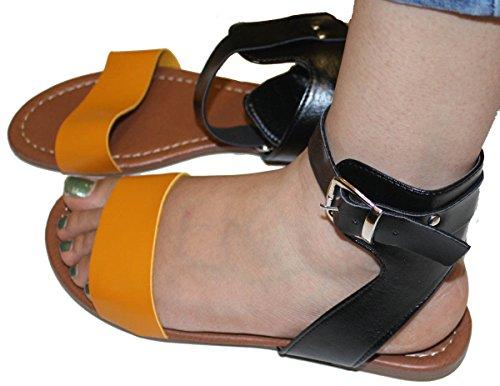 Sandali Gladiatore Donna Estate Appartamenti Fashionthongs T Cinturini Donna Scarpe Gialle