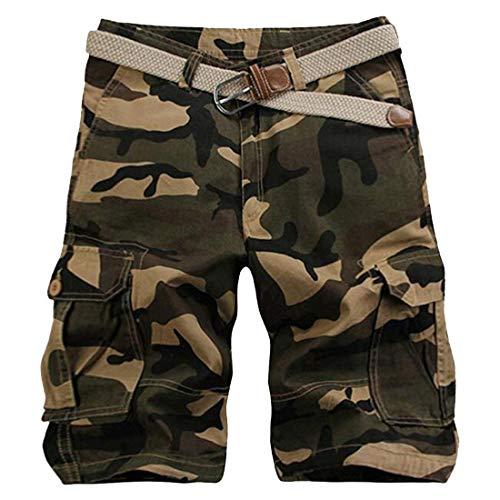 Camouflage Homme Cargo De Sport Kaki En Vêtements Décontracté D'été Mi Coton Hommes Droit Court Travail Fête Pour Long Pantalon Vintage q07Pnwz