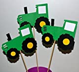 Farm John Deere Green Tractor Table Topper centerpiece set of 3