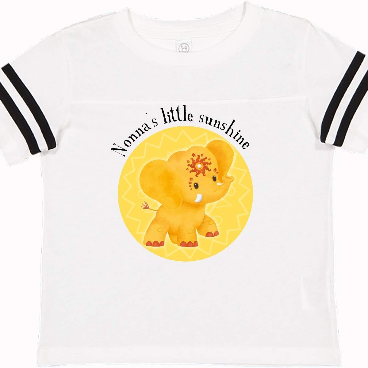 Tiny Tusks inktastic Nonnas Little Sunshine Yellow Elephant Toddler T-Shirt