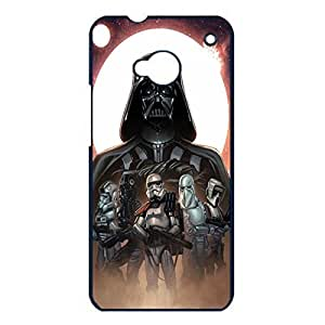 Htc One M7 Case Cover Cool Powerful darth vader robots Fantasy Movie Star Wars Phone Case Cover The Force Awakens series
