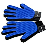 WOW Pet Grooming Glove - Efficient Cat Dog Pet Hair Remover - Deshedding Brush Glove Perfect for Dog & Cat with Long & Short Fur - 1 Pair
