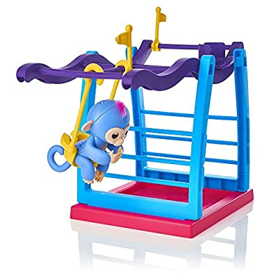 Finger Toys Monkey Jungle Gym,Faber3 Monkey Jungle Gym Playset Interactive Baby Monkey Climbing Stand Kids Monkey Toy Stent Interactive Baby Monkey Aimee for Finger Toys from Faber3
