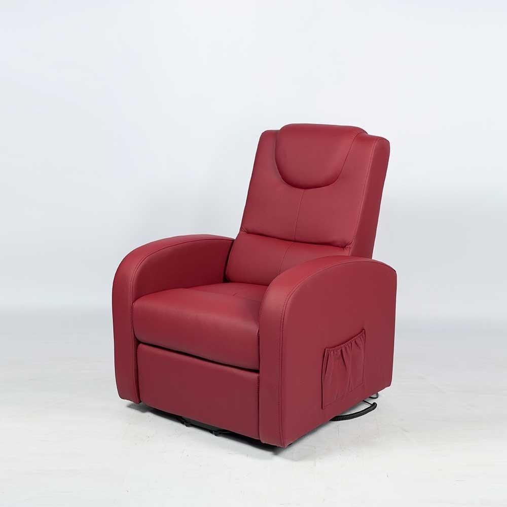 TV Sessel in Bordeaux Braun Elektrisch mit Aufstehhilfe Pharao24