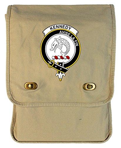 Tenacitee Scottish Clan Crest Badge Kennedy Putty Canvas Field Bag from Tenacitee