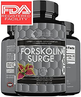 ** MEGA FORSKOLIN SURGE ** Best Most Proven Forskolin Supplement - Maximum Potency - Maximum Weight Loss Results - Top Rated Natural Supplement - perdida de peso rapid