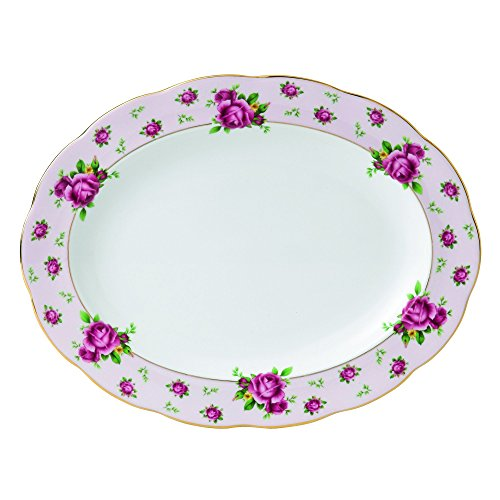 Royal Albert New Country Roses Pink Vintage Oval Platter