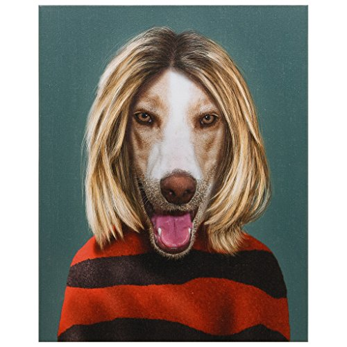 Empire Art Direct Pets Rock Grunge Graphic Wrapped Dog Canvas Wall Art, 20