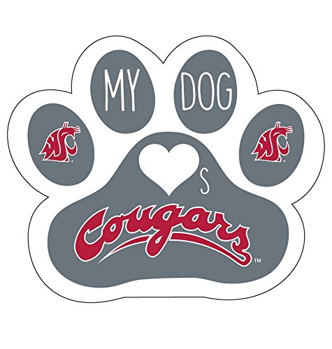 (WASHINGTON STATE COUGARS MAGNET-MY DOG LOVES WASHINGTON STATE CAR MAGNET)