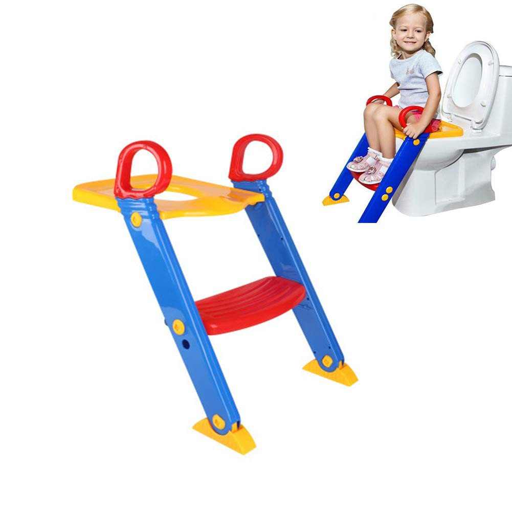 Toilet Ladder Baby Toilet Trainer Non-Slip Adjustable Suitable for Toddlers Suitable for Most Toilets