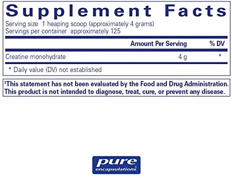 Pure Encapsulations – Creatine Powder – Hypoallergenic Strength and Conditioning Support Formula for Athletes* – 500 Grams