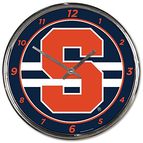 Orange 12 Inch Wall Clock - Wincraft Syracuse Orange 12 inch Round Wall Clock Chrome Plated