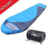 Becozier Sleeping Bag, Lightweight Stuff Sack Mummy Sleeping Bag with Waterproof and Durable Polyester Shell, Portable and Compression sack for all Season Camping, Outdoor Activities, Blue