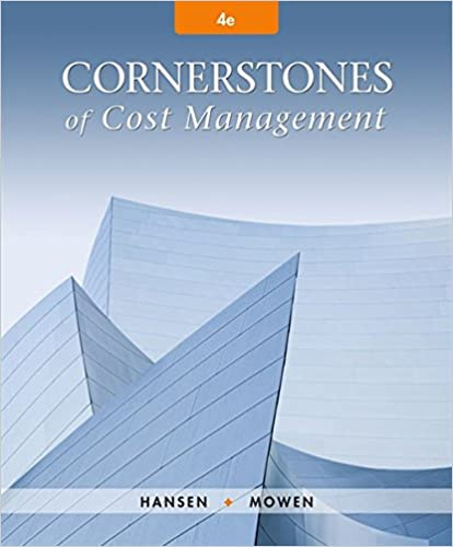 Cornerstones Of Cost Management Cornerstones Series Don R