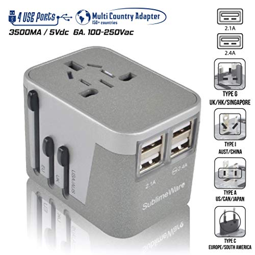 Power Plug Adapter for International Travel  - 4 USB Europea