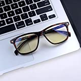 Computer Glasses Blue Light Blocking Glasses[Better Sleep] Shileded Anti Blue Light Glasses,Anti Glare Reading/Gaming Glasses for Men and Women(Tortoise)