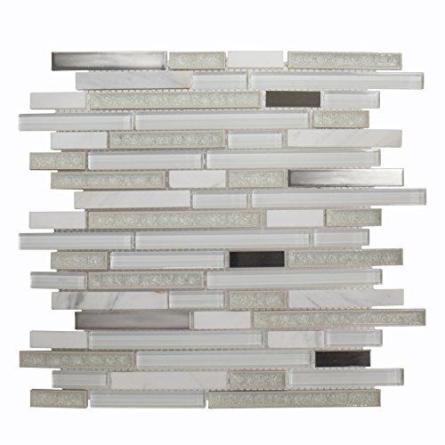 Jeffrey Court 75001 Crystalized Mosaic Tile, Glass, 11.75...