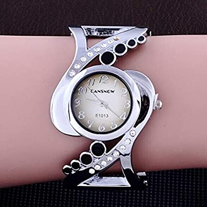 Corcrest - Design Women Bangle Wrist Watch Quartz Crystal Luxury relojes Rhinestone Fashion Female Watches Elegant