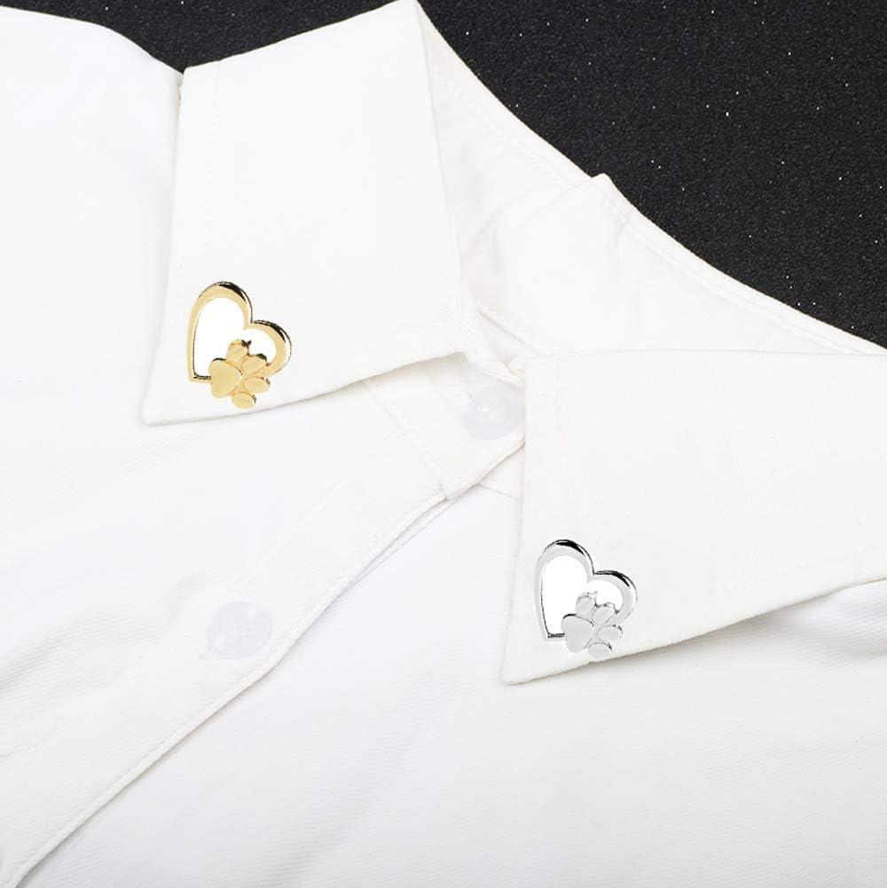 2pcs or et argent forme de coeur galvanoplastie en alliage de zinc broche /épingle de poitrine broche foulard skinny /écharpe blouse collier d/écoration /épingles ornement pour v/êtements embellir