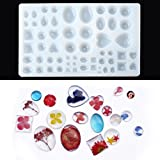 Jeteven 29 Designs 58 Case Jewelry Pendant Key Chain Gem Silicone Casting Mold Making Multi Shaped DIY Craft