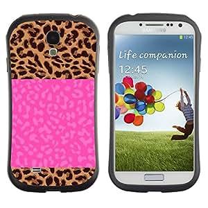 Suave TPU GEL Carcasa Funda Silicona Blando Estuche Caso de protección (para) Samsung Galaxy S4 I9500 / CECELL Phone case / / Electric Jolt Lightning Pink Text /