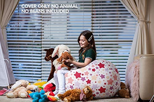 home, kitchen, furniture, game, recreation room furniture,  bean bags 11 discount WEKAPO Stuffed Animal Storage Bean Bag Chair Cover promotion