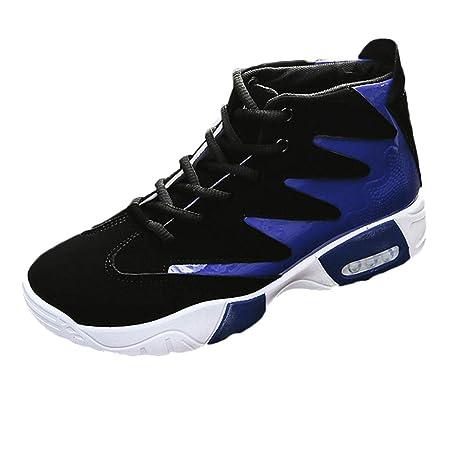 LuckyGirls Zapatillas de Correr para Hombre Cojín de Aire Casual Color Mezclado Aumentado Calzado de Caña Alta de Deporte Zapatos Deportivos Bambas: ...