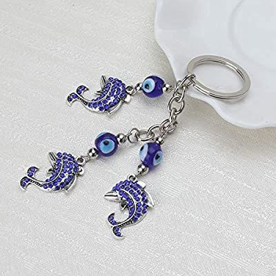 Amazon.com: Eaglers Llavero Metal Dolphin Keychain Trendy ...