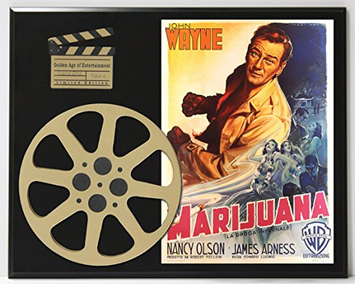 MARIJUANA WITH JOHN WAYNE LIMITED EDITION MOVIE REEL DISPLAY